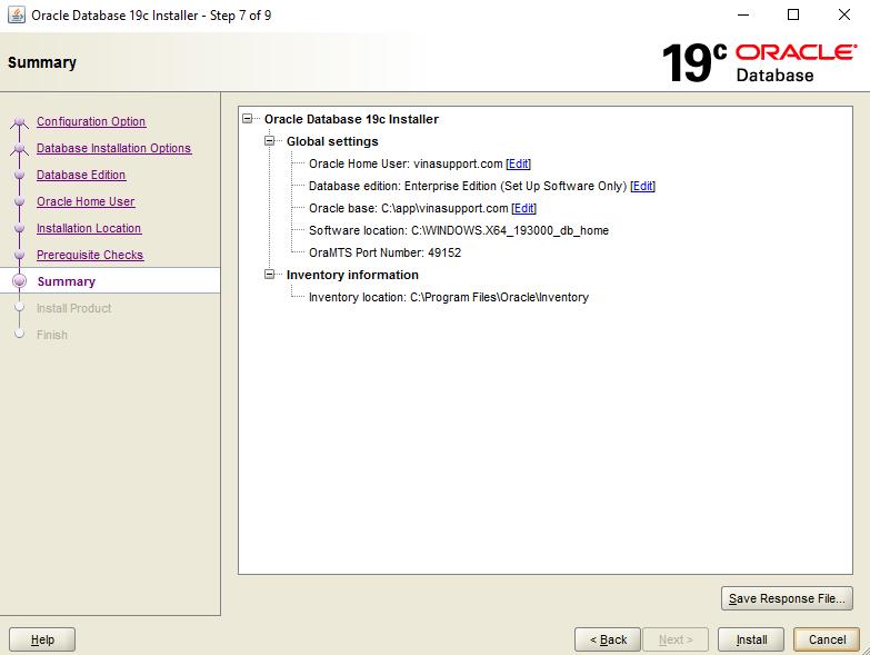 Huong dan cai dat Oracle 19c tren Windows Buoc 7