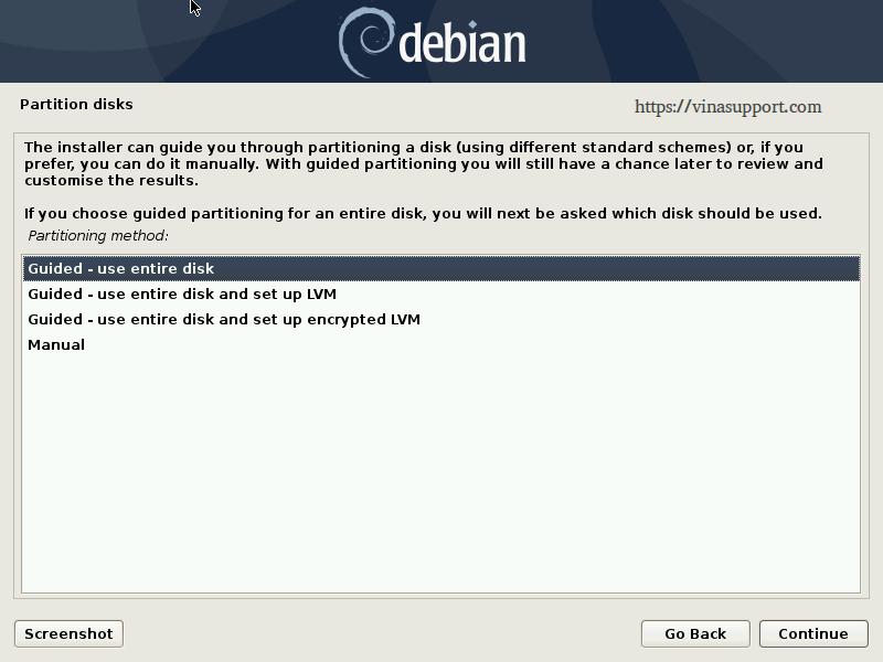 Huong dan cai dat Debian 10 - Buoc 13