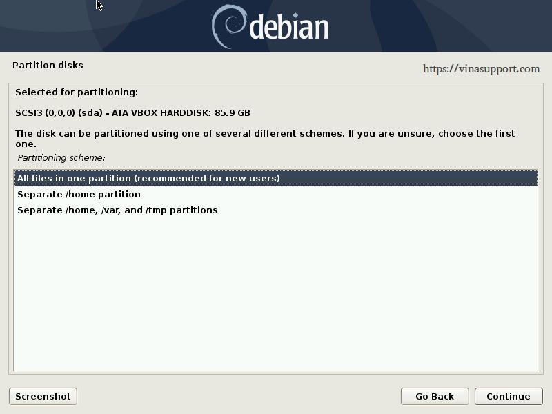 Huong dan cai dat Debian 10 - Buoc 15