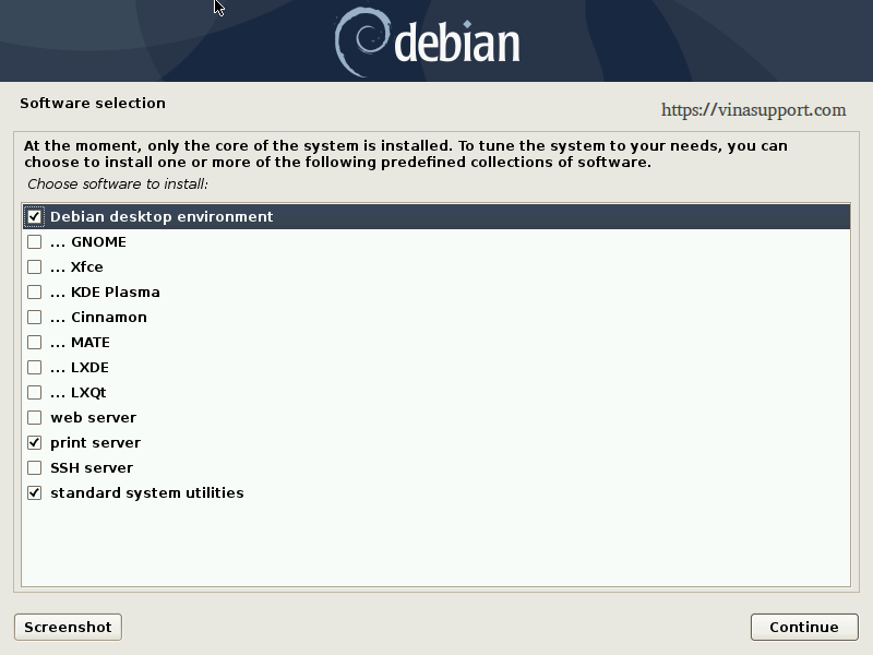Huong dan cai dat Debian 10 - Buoc 22