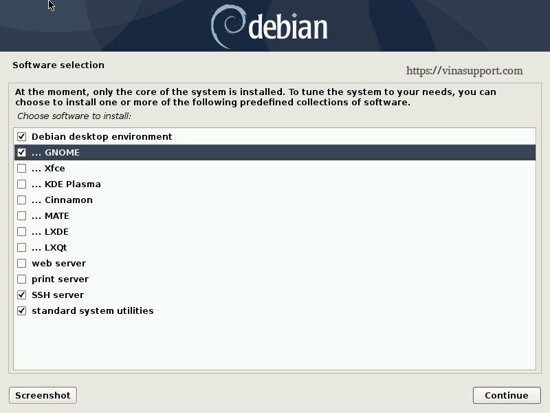 Huong dan cai dat Debian 10 - Buoc 23