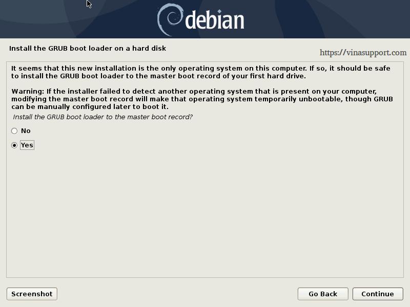 Huong dan cai dat Debian 10 - Buoc 24