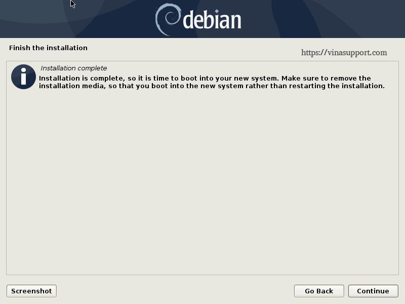 Huong dan cai dat Debian 10 - Buoc 26