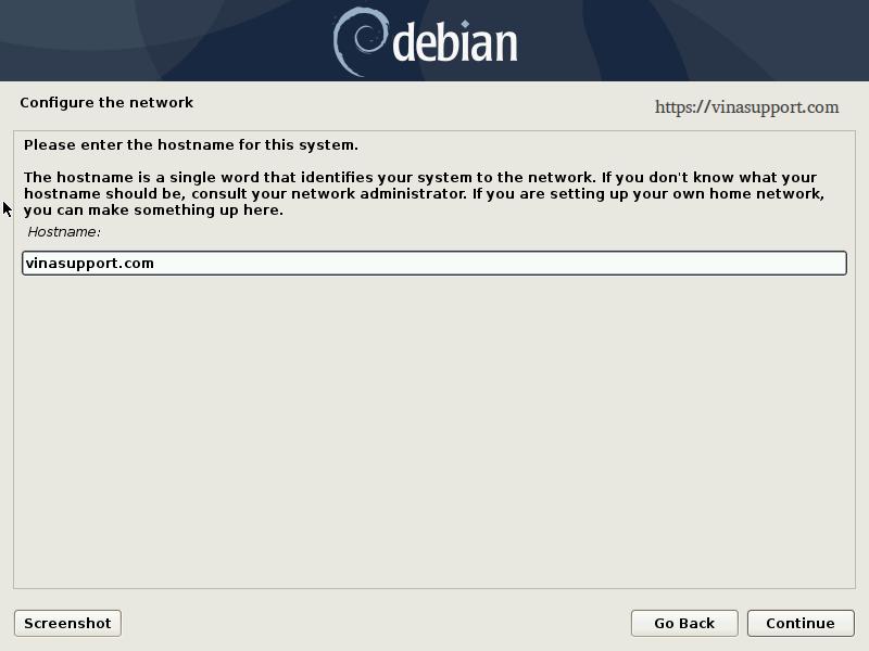 Huong dan cai dat Debian 10 - Buoc 8