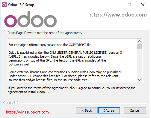 Huong dan cai dat Odoo 13 tren Windows Server 2016 - Buoc 3