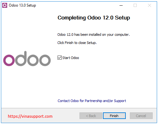 Huong dan cai dat Odoo 13 tren Windows Server 2016 - Buoc 9