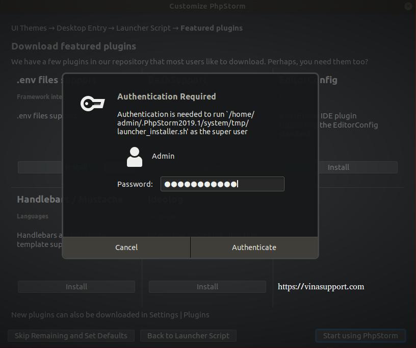 Huong dan cai dat PhpStorm IDE tren Ubuntu Step 8
