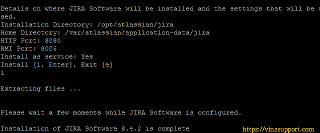Cai dat Jira Software Tren Linux Server - Buoc 4