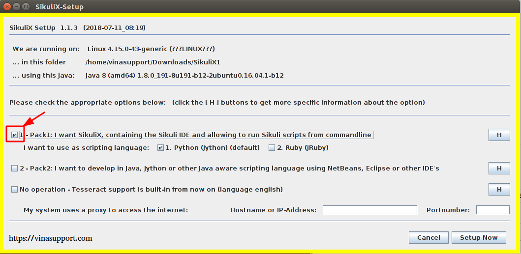 Cai Dat SikuliX1 Tren Ubuntu Step 2