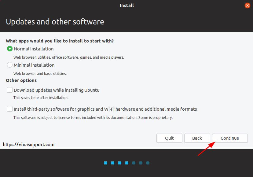 Hướng dẫn cài đặt HDH Ubuntu 18.10 bước 3
