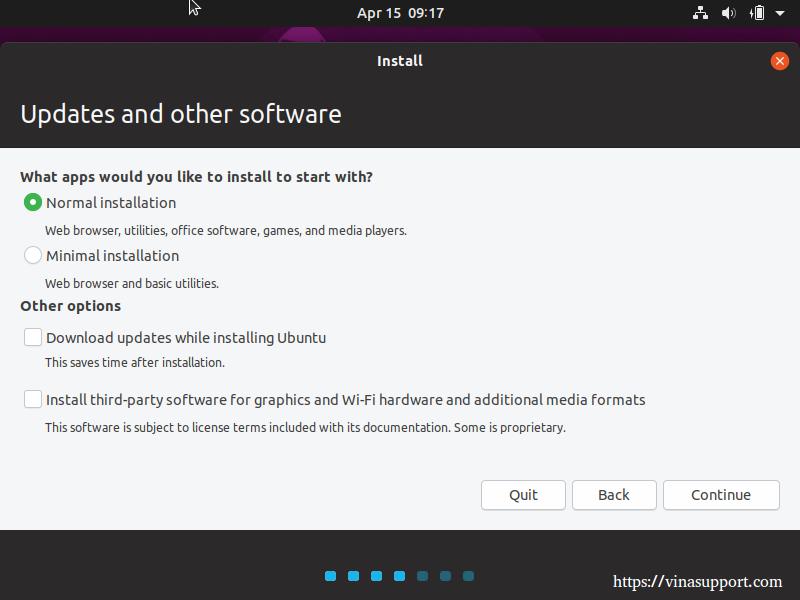 Huong dan cai dat HDH Ubuntu 19.04 Desktop buoc 3