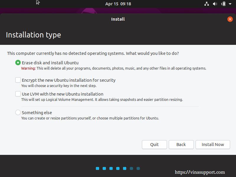 Huong dan cai dat HDH Ubuntu 19.04 Desktop buoc 4