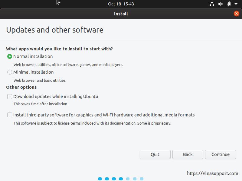 Huong dan cai dat Ubuntu 19.10 Desktop - Buoc 4