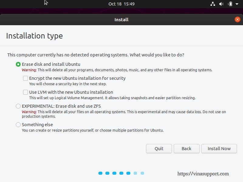 Huong dan cai dat Ubuntu 19.10 Desktop - Buoc 5