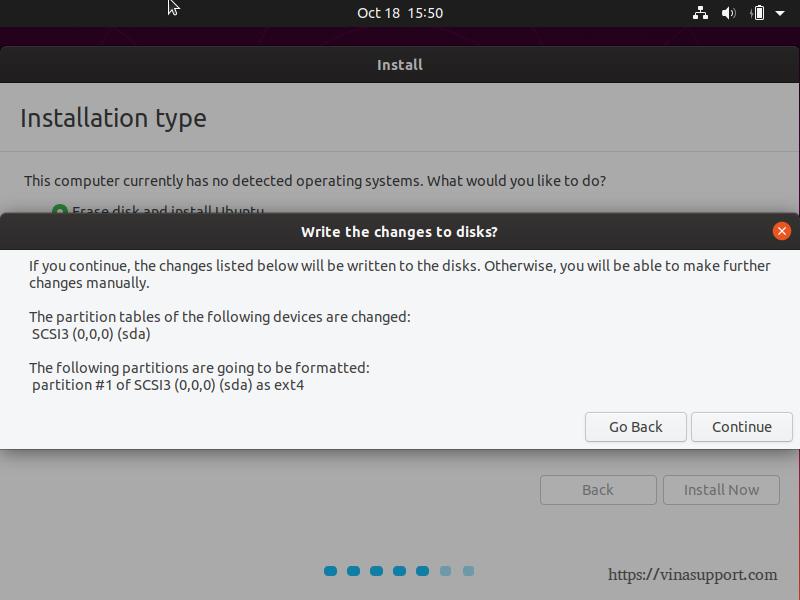 Huong dan cai dat Ubuntu 19.10 Desktop - Buoc 6