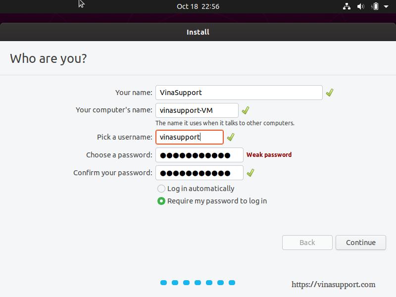 Huong dan cai dat Ubuntu 19.10 Desktop - Buoc 8