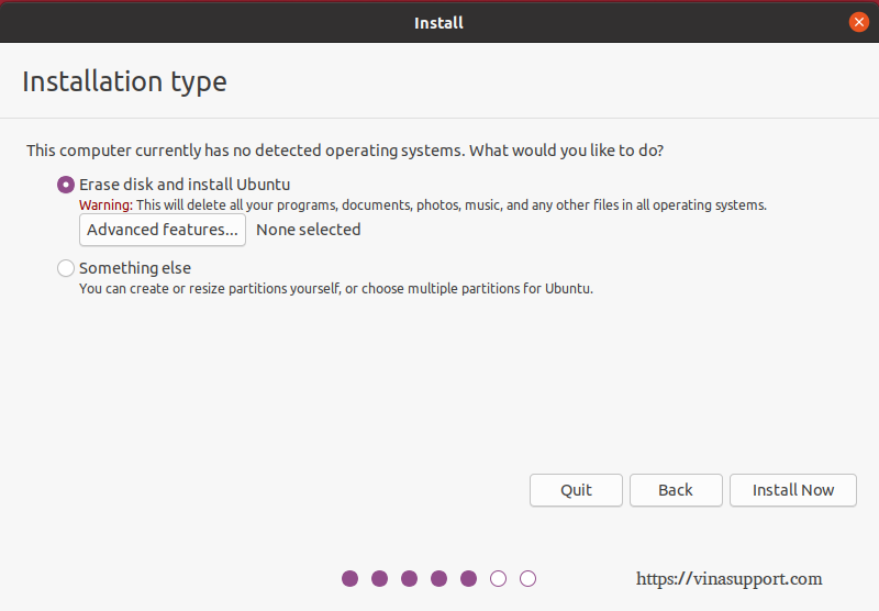 Cai dat HDH Ubuntu 20.04 - Buoc 5