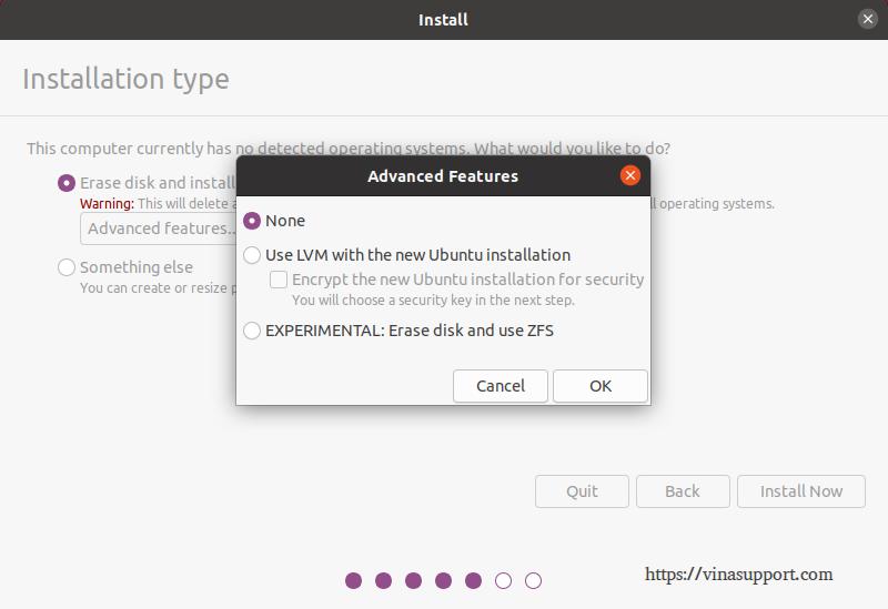 Cai dat HDH Ubuntu 20.04 - Buoc 6