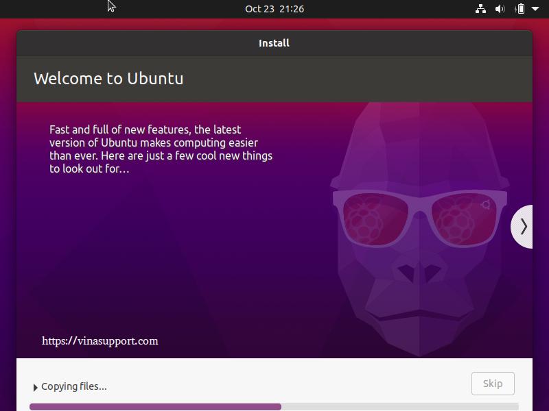 Huong dan cai dat Ubuntu 20.10 Buoc 10