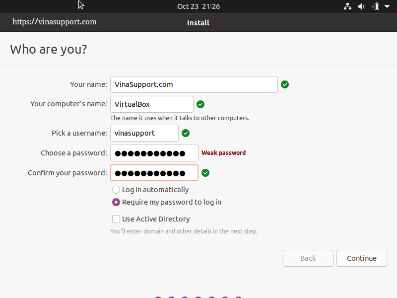 Huong dan cai dat Ubuntu 20.10 Buoc 9
