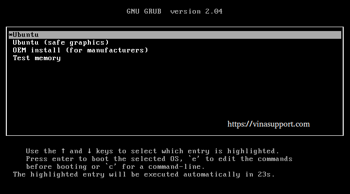 Cai dat Ubuntu 21.04 Buoc 1