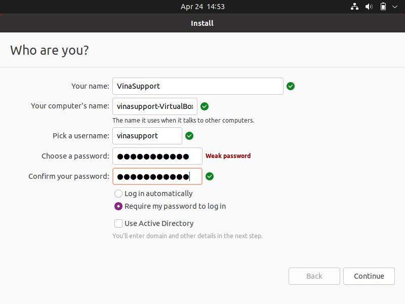 Cai dat Ubuntu 21.04 Buoc 9