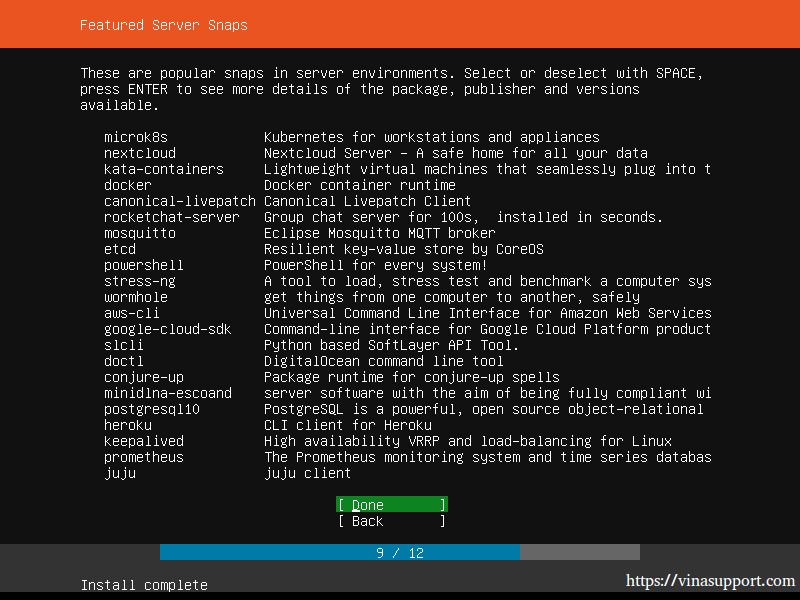 Huong dan cai dat Ubuntu Server 18.04 LTS step 14