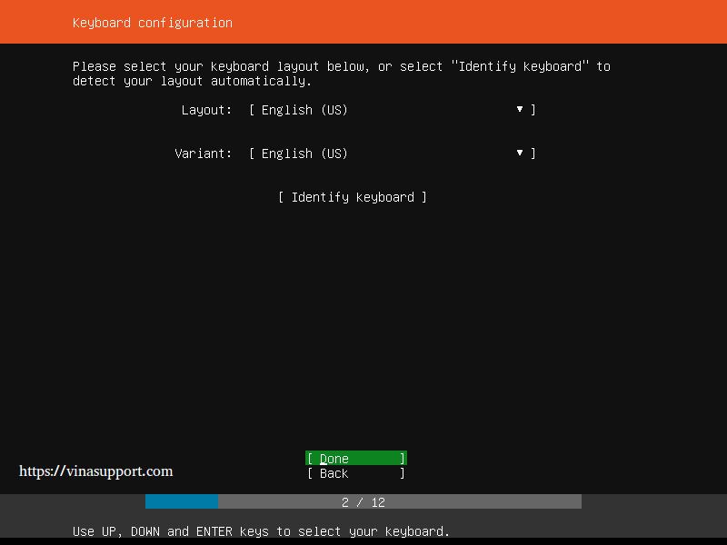 Huong dan cai dat Ubuntu Server 18.04 LTS step 2