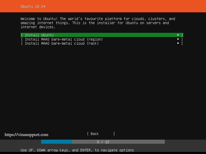 Huong dan cai dat Ubuntu Server 18.04 LTS step 3