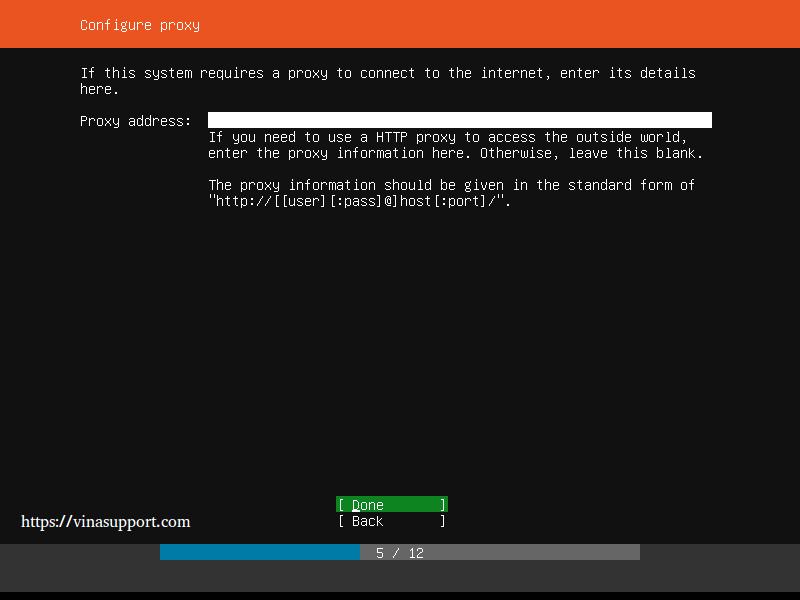 Huong dan cai dat Ubuntu Server 18.04 LTS step 5