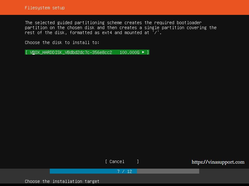 Huong dan cai dat Ubuntu Server 18.04 LTS step 9