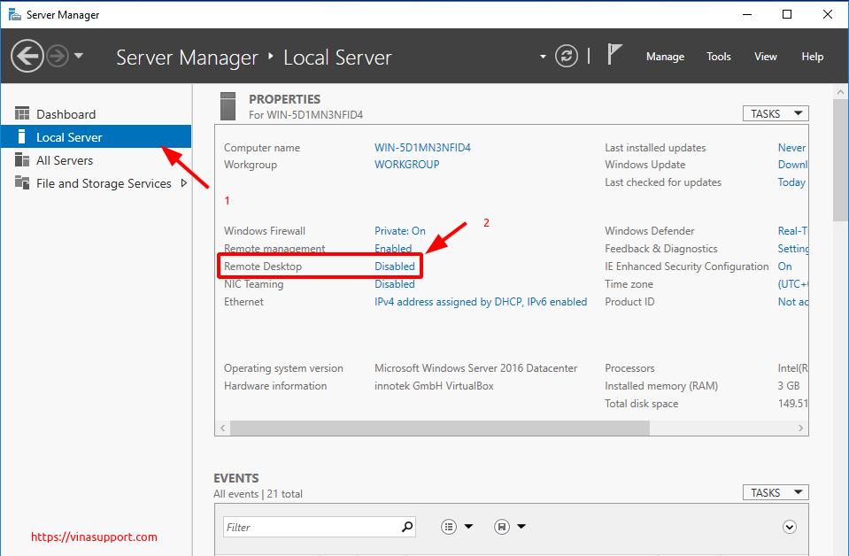 Bat dich vu Remote Desktop tren Windows - Buoc 1