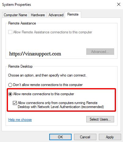 Bat dich vu Remote Desktop tren Windows - Buoc 2