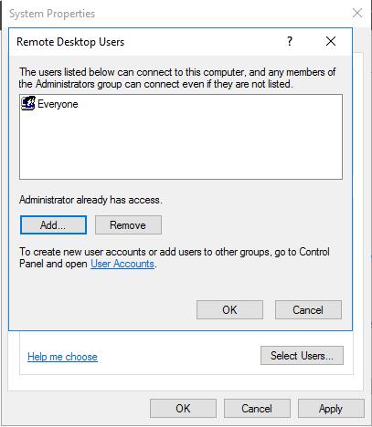 Bat dich vu Remote Desktop tren Windows - Buoc 6
