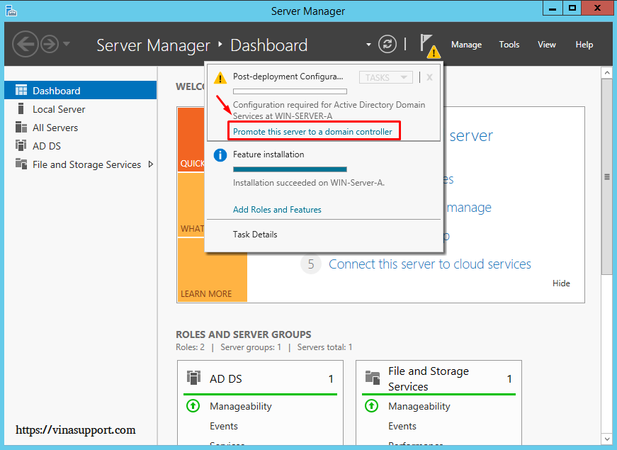 Cai dat va cau hinh Active Directory Tren Windows Server - Buoc 15