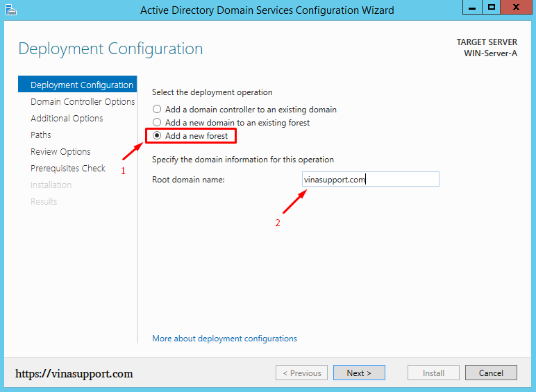 Cai dat va cau hinh Active Directory Tren Windows Server - Buoc 16