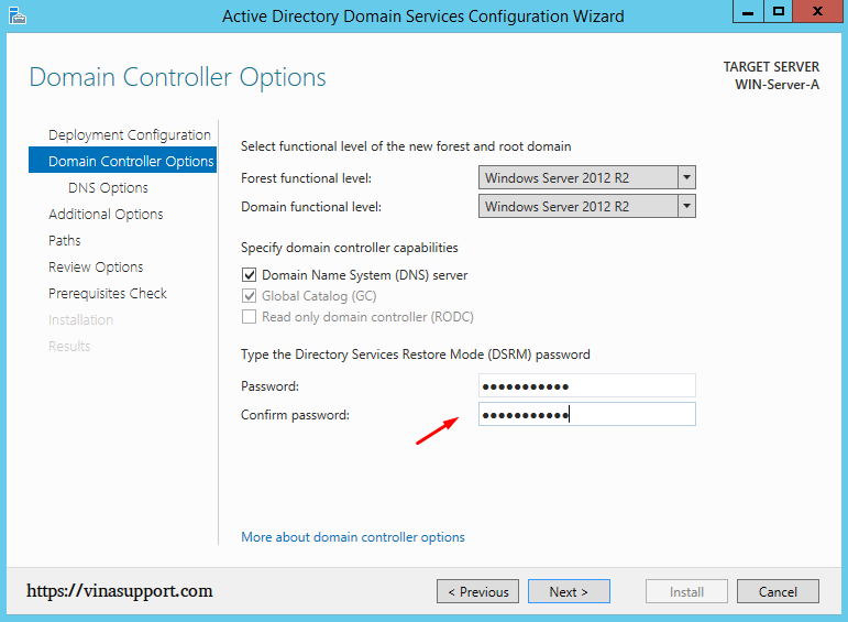 Cai dat va cau hinh Active Directory Tren Windows Server - Buoc 17