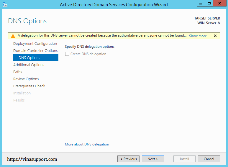 Cai dat va cau hinh Active Directory Tren Windows Server - Buoc 18