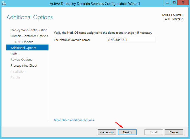 Cai dat va cau hinh Active Directory Tren Windows Server - Buoc 19