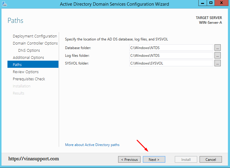 Cai dat va cau hinh Active Directory Tren Windows Server - Buoc 20
