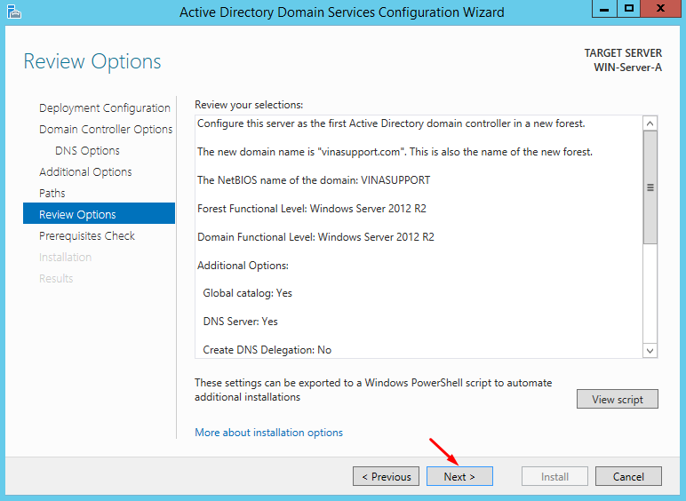 Cai dat va cau hinh Active Directory Tren Windows Server - Buoc 21