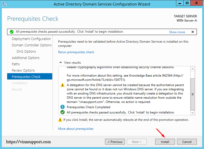 Cai dat va cau hinh Active Directory Tren Windows Server - Buoc 22