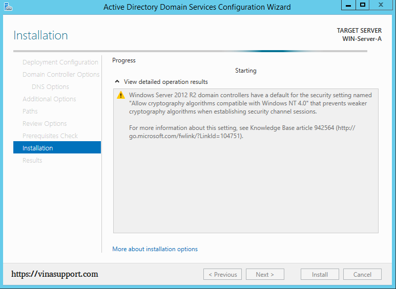 Cai dat va cau hinh Active Directory Tren Windows Server - Buoc 23