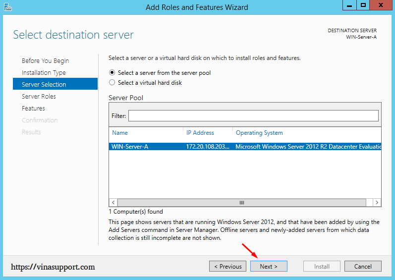 Cai dat va cau hinh Active Directory Tren Windows Server - Buoc 4