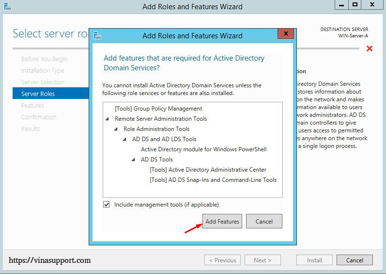 Cai dat va cau hinh Active Directory Tren Windows Server - Buoc 6
