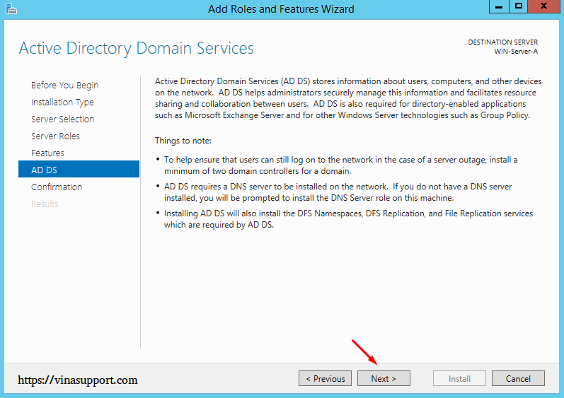 Cai dat va cau hinh Active Directory Tren Windows Server - Buoc 9