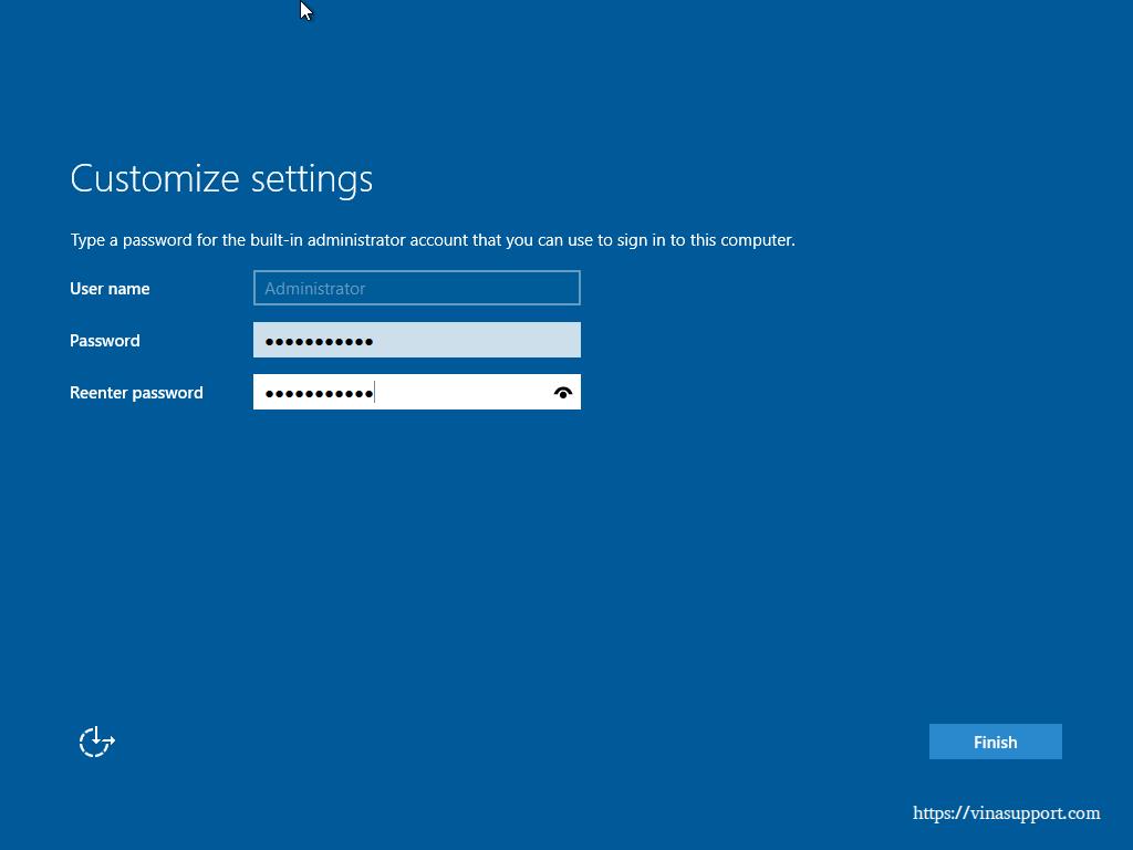 Huong dan cai dat Windows Server 2016 - Buoc 10