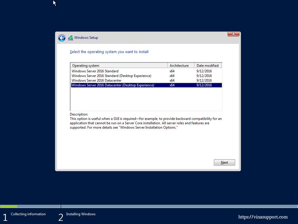 Huong dan cai dat Windows Server 2016 - Buoc 4