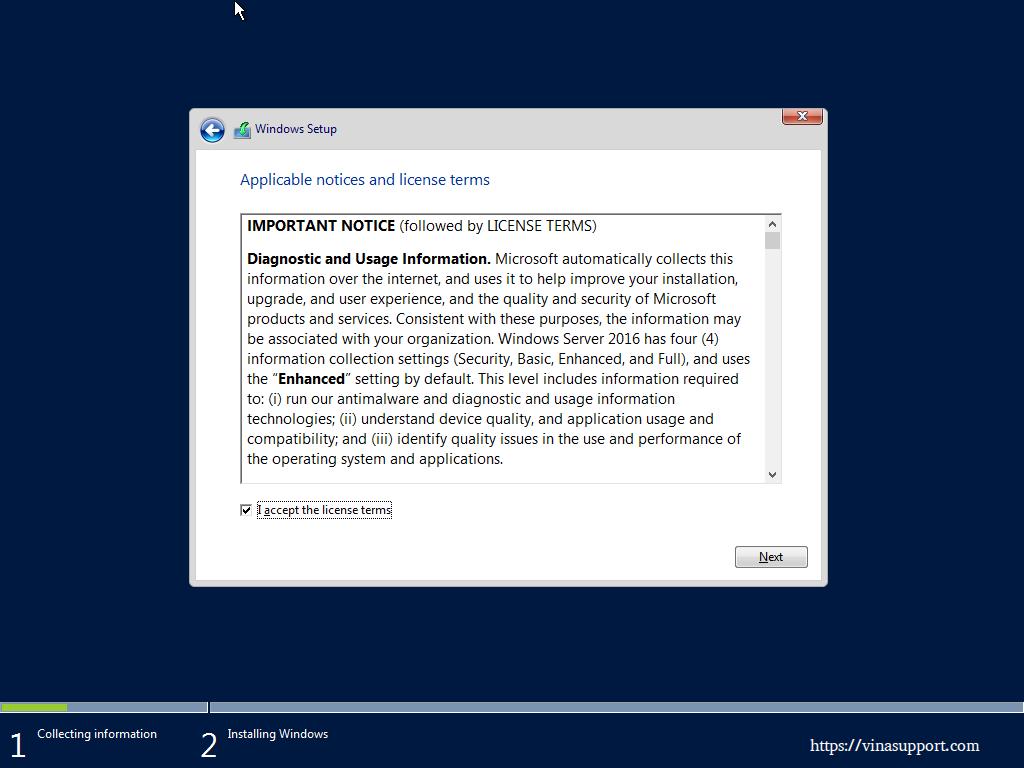 Huong dan cai dat Windows Server 2016 - Buoc 5