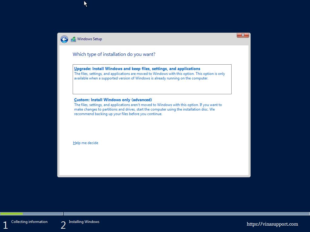 Huong dan cai dat Windows Server 2016 - Buoc 6